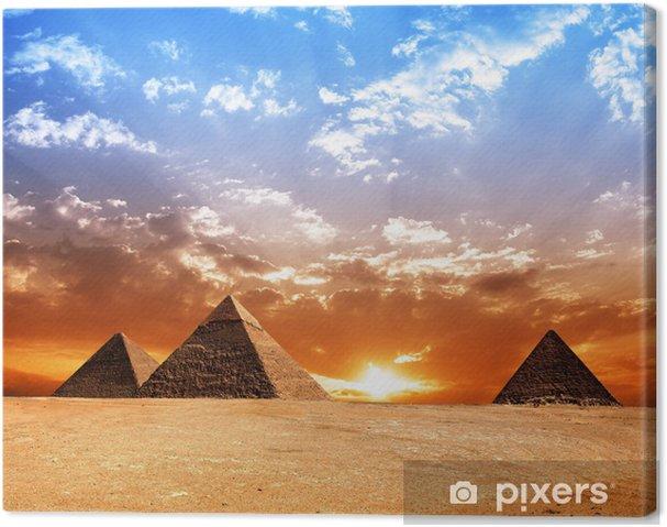 Tableau sur toile Pyramides égyptiennes - Thèmes