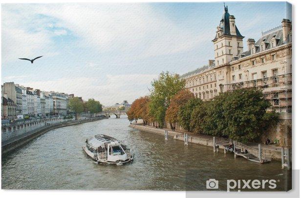 Tableau sur toile Quai de seine à Paris - Villes européennes
