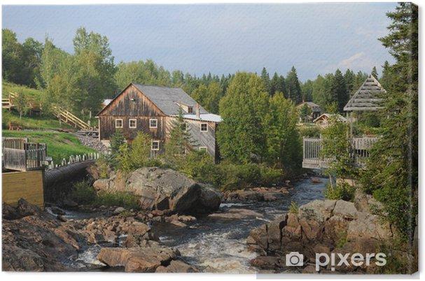 Tableau sur toile Quebec, le Moulin des Pionniers in La Dore - Vacances