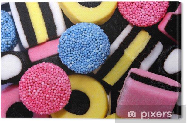 Tableau sur toile Qui fait grossir - Bonbons et muffins