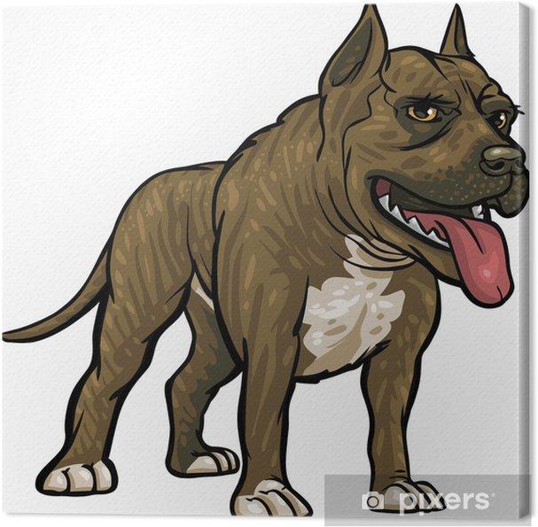 Tableau pitbull 4 tableaux sur toile races de chiens pitbull