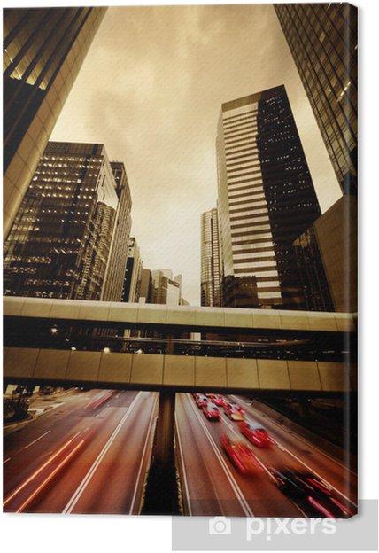 Tableau sur toile Rapides voitures qui passent la nuit - Sur la route