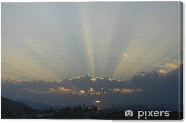 Tableau sur toile Rayons de soleil divin 66 - Religion