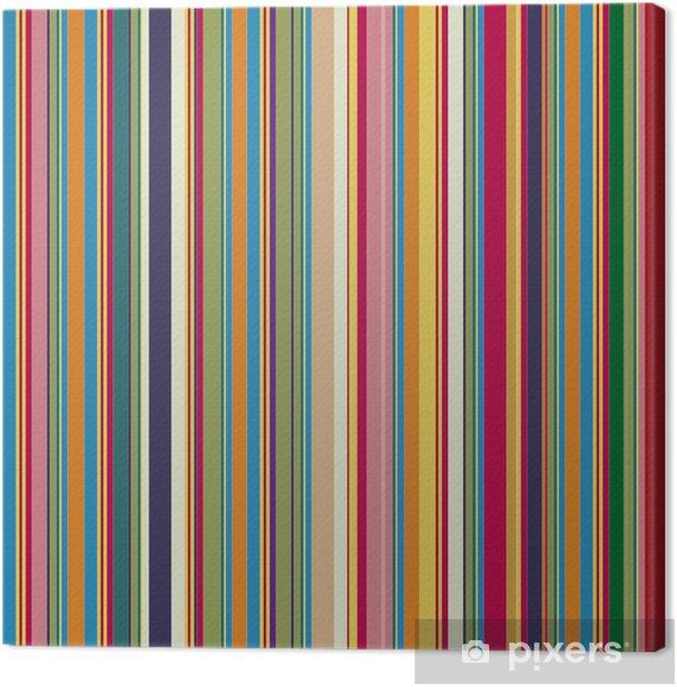 Tableau sur toile Rayures colorées - Thèmes