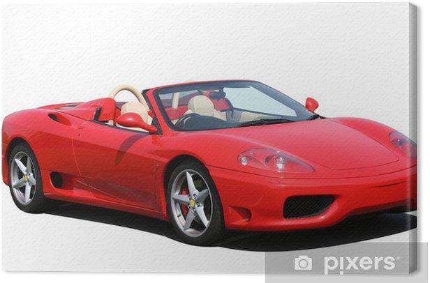 Tableau sur toile Red voiture sport décapotable - Réussite