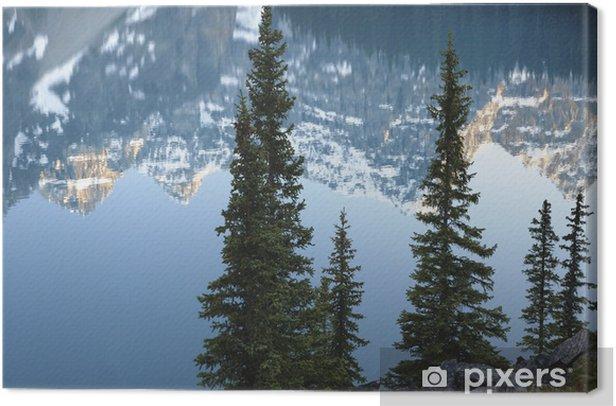 Tableau sur toile Reflets dans le lac Moraine dans le parc national Banff, en Alberta, au Canada. - Nature et régions sauvages