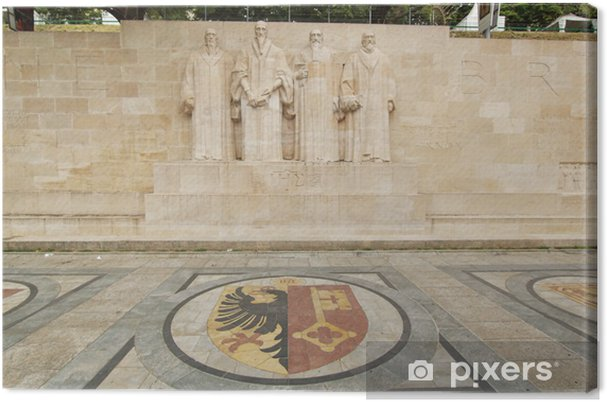 Tableau sur toile Réforme mur Bastions Parc, Genève, Suisse - Europe