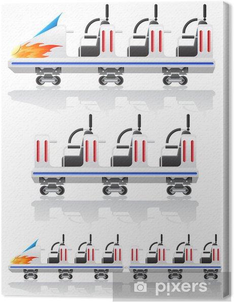 Tableau sur toile Remorques montagnes russes illustration vectorielle - Jeux