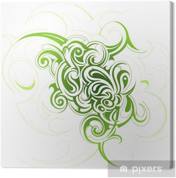 Tableau sur toile Remous floraux - Abstrait