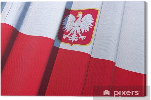 Tableau sur toile République de drapeau de la Pologne - Thèmes