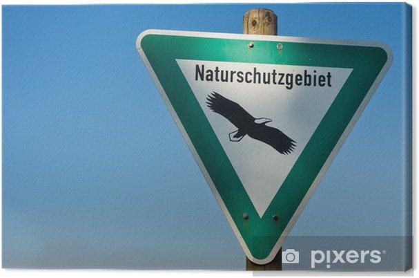 Tableau sur toile Réserve naturelle Sign (Naturschutzgebiet) - Autres