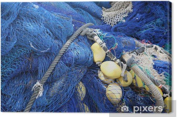 Tableau sur toile Résille bleu - Concepts
