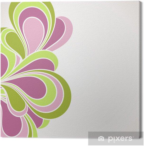 Tableau sur toile Résumé carte d'invitation, bordure décorative - Abstrait