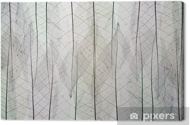 Tableau sur toile Résumé de base de squelettes de feuilles d'automne - Saisons