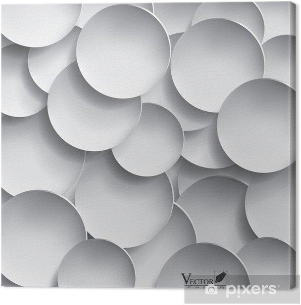 Tableau sur toile Résumé de conception 3D de cercle de papier - Abstrait