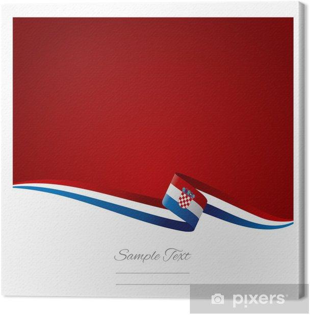 Tableau sur toile Résumé de fond de couleur drapeau croate vecteur - Concepts