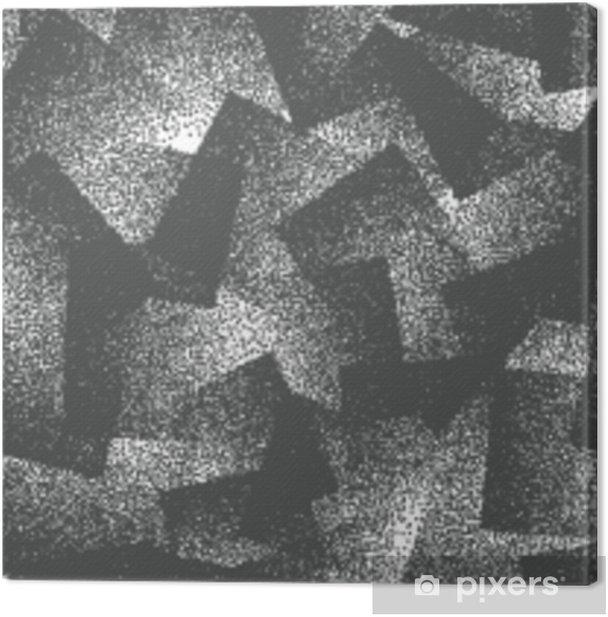 Tableau sur toile Résumé de vecteur pointillé modèle sans couture de hipster bizarre. fait à la main géométrique pointillé grunge blanc et noir solide fond simple. illustration d'art bizarre - Ressources graphiques