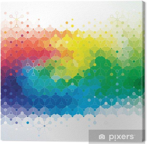 tableau sur toile r u00e9sum u00e9 des couleurs de fond de la structure des mol u00e9cules d u0026 39 adn   u2022 pixers