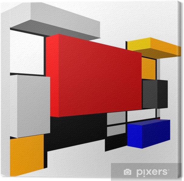 Tableau sur toile Résumé du modèle 3D Seamless géométrique coloré de vecteur pour conti - Arrière plans