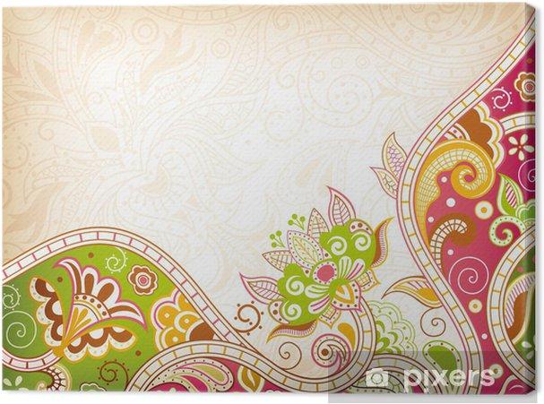 Tableau sur toile Résumé florale tourbillonnante - Arrière plans