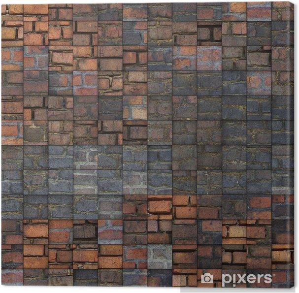 Tableau sur toile Résumé motif de briques grunge de mosaïque - Monuments