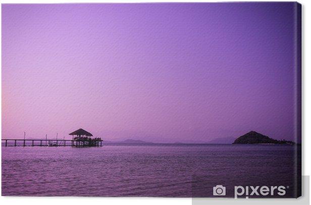 Tableau sur toile Résumé paysage marin sunset crépuscule violet filtre - peut utiliser pour afficher ou montage sur le produit - Paysages