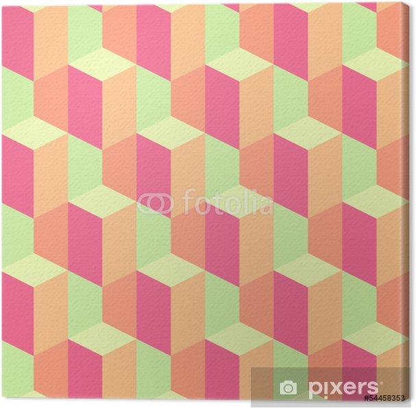 Tableau sur toile Résumé rétro seamless géométrique - Arrière plans