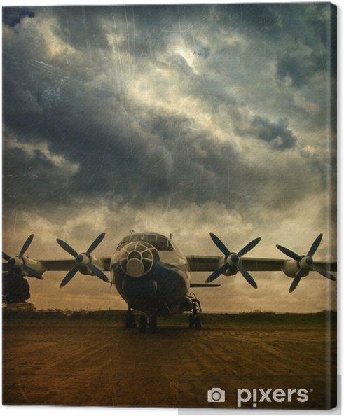 Tableau sur toile Retro aviation, grunge - Thèmes