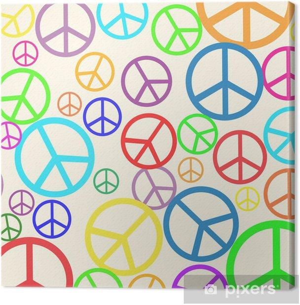 Tableau sur toile Retro background de la paix - Paix