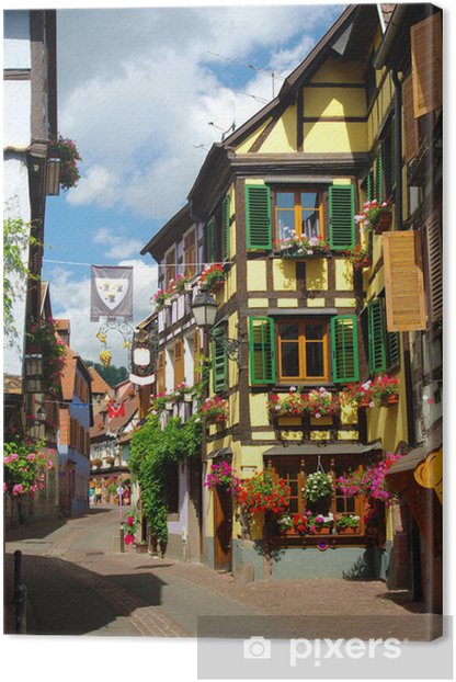Tableau sur toile Ribeauvillé, Alsace (Fr). - Paysages urbains