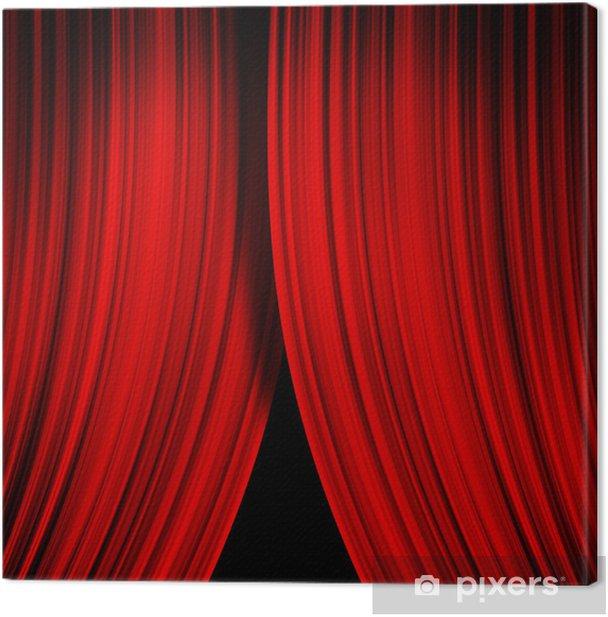 Tableau sur toile Rideau rouge - Arrière plans
