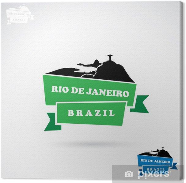Tableau sur toile Rio De Janeiro bannière - Villes américaines