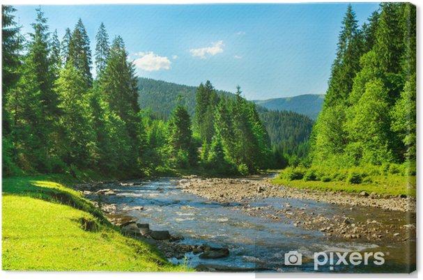 Tableau rivière et montagne 4 tableaux sur toile riviere de montagne