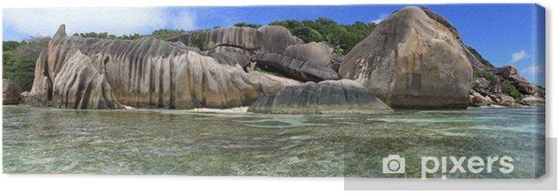 Tableau sur toile Rochers granitiques des seychelles - Vacances