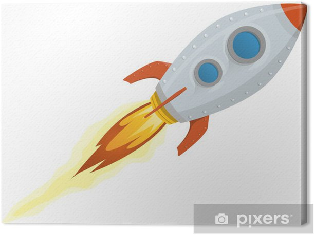 Tableau sur toile Rocket Ship - Dans les airs