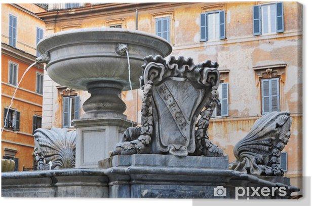 Tableau sur toile Roma, La Fontana di Piazza Santa Maria in Trastevere - Villes européennes