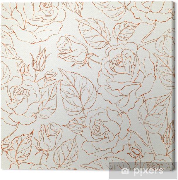Tableau sur toile Rose arrière-plan transparent. - Styles
