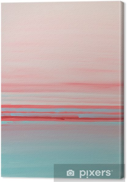 Tableau sur toile Rose bleu abstraite peinture à l'huile intérieure - Ressources graphiques