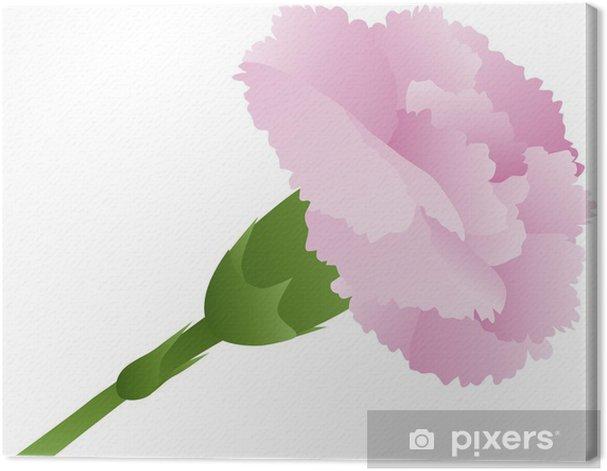 Tableau sur toile Rose Carnation Fleur Illustration - Fleurs