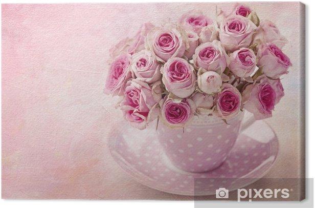 Tableau sur toile Rose vintage rose - Thèmes