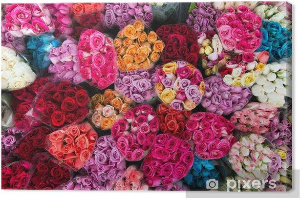 Tableau sur toile Roses de variétés - Fleurs