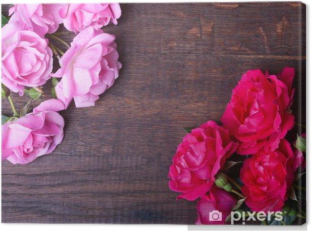 Tableau sur toile Roses roses - Fleurs