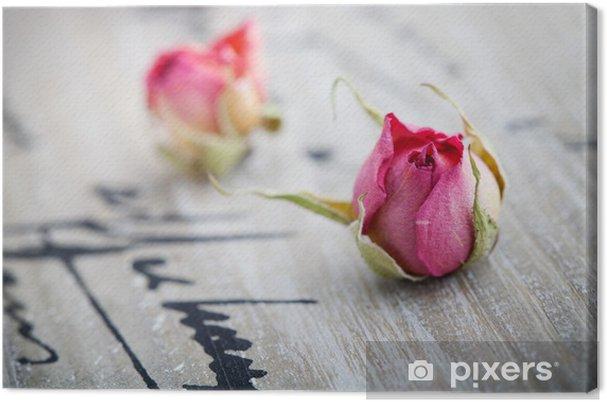 Tableau sur toile Roses séchées - Fêtes internationales