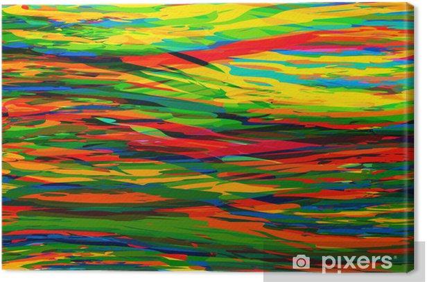 Tableau Sur Toile Rouge Jaune Bleu Vecteur Vert Abstrait Pixers Nous Vivons Pour Changer