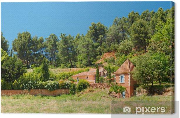 Tableau sur toile Roussillon en France - Campagne