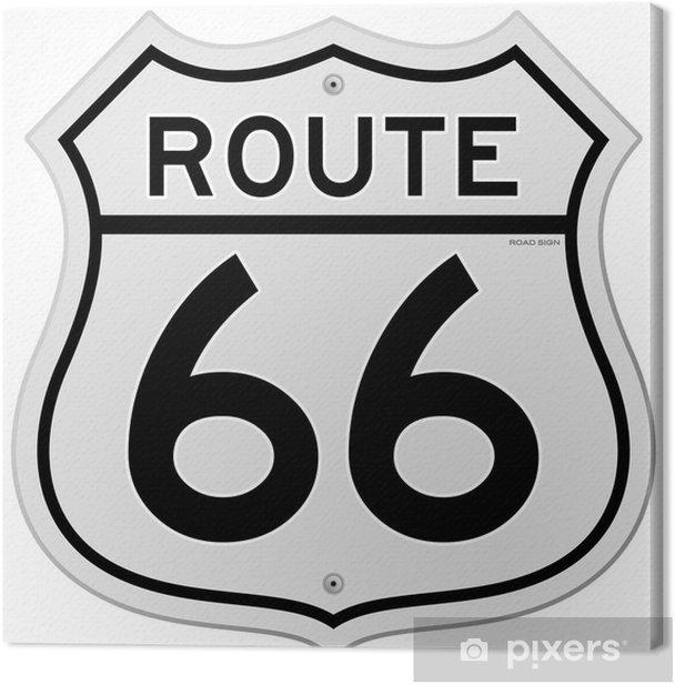 Tableau sur toile Route 66 signe - Sticker mural