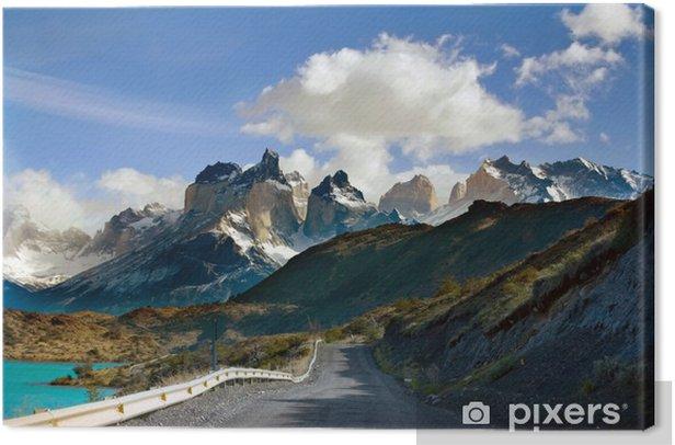 Tableau sur toile Route de Torres del Paine, du glacier Grey, Patagonie, au Chili - Amérique