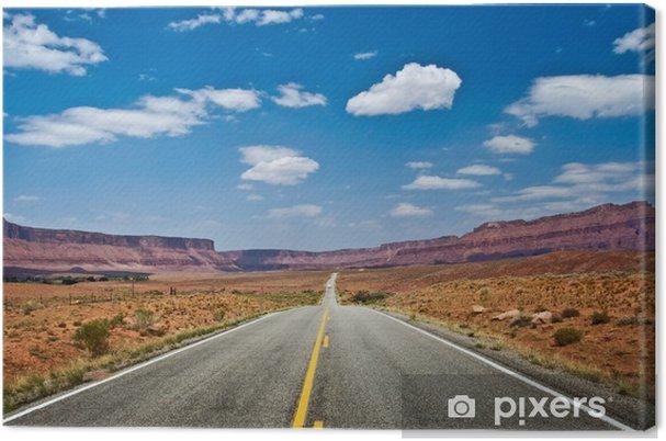 Tableau sur toile Route du vers Moad Colorado, Utah, USA - Amérique