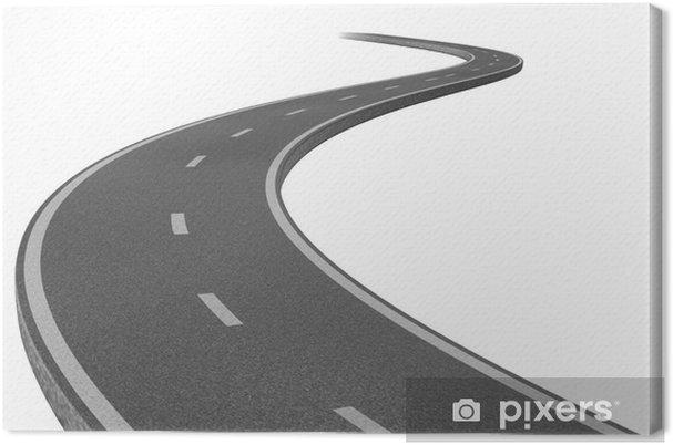Tableau sur toile Route vers une destination - Sur la route