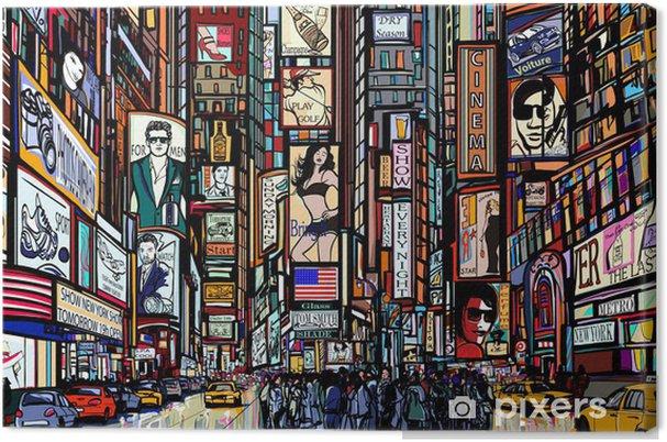 Tableau sur toile Rue à New York - Art et lifestyle